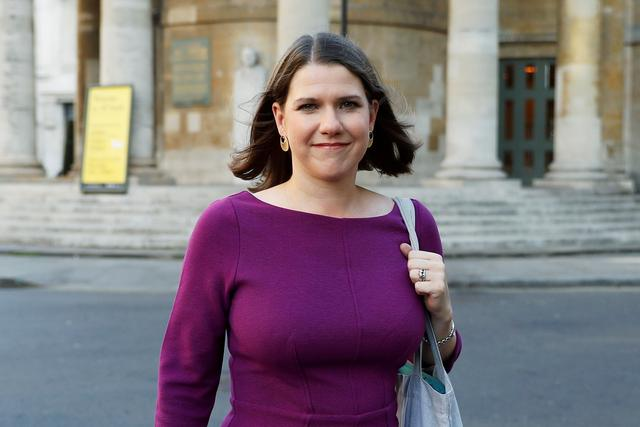 FILE PHOTO: Britain's Liberal Democrats leader Jo Swinson leaves BBC studios in London, Britain, September 15, 2019. REUTERS/Peter Nicholls/File Photo