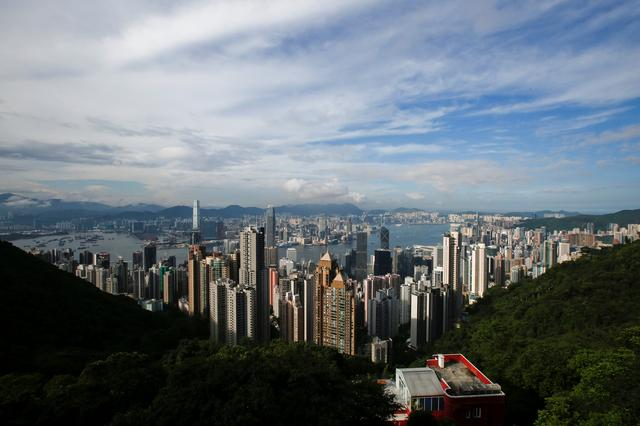 FILE PHOTO: A general view of Victoria Harbour and downtown skyline is seen from the Peak in Hong Kong, China August 4, 2017. REUTERS/Bobby Yip