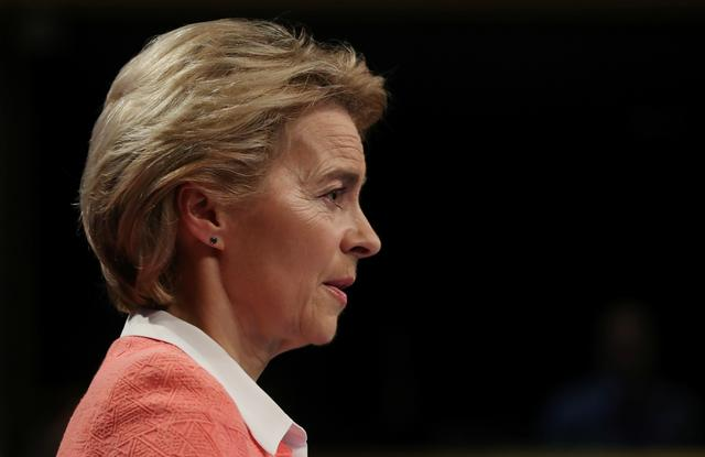 European Commission's president-designate Ursula von der Leyen speaks during a news conference at the EU Commission headquarters in Brussels, Belgium September 10, 2019. REUTERS/Yves Herman