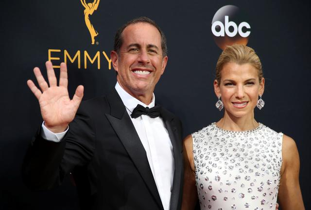 FILE PHOTO: Comedian Jerry Seinfeld and his wife Jessica arrive at the 68th Primetime Emmy Awards in Los Angeles, California, U.S., September 18, 2016.  REUTERS/Lucy Nicholson/File Photo