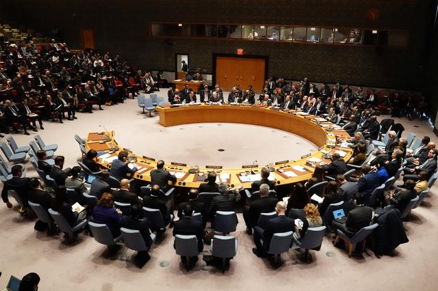 FILE PHOTO - The United Nations Security Council meets in the Manhattan borough of New York City, New York, U.S., January 26, 2019.  REUTERS/Carlo Allegri