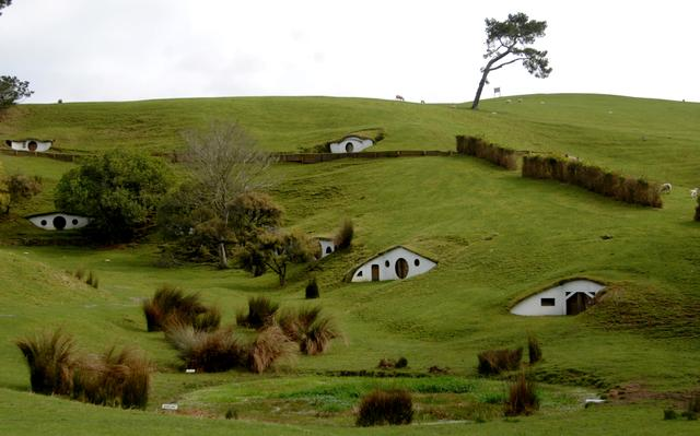 FILE PHOTO: The remains of the Hobbiton movie set from the film the Lord of the Rings at the town of Matamata in the North Island of New Zealand, September 2007. AAP Image/Tracey Nearmy/via REUTERS