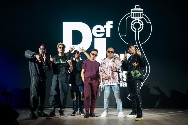Rappers Joe Flizzow, Daboyway, Yung Raja, Fariz Jabba, ALIF and A.Nayaka pose in Singapore September 17, 2019. Universal Music Group (UMG)/Handout via REUTERS THIS IMAGE HAS BEEN SUPPLIED BY A THIRD PARTY. MANDATORY CREDIT. NO RESALES. NO ARCHIVES.