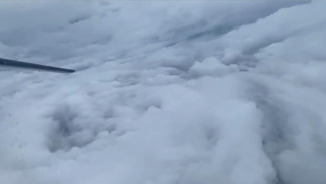 FILE PHOTO: The eye of Hurricane Humberto is seen as National Oceanic and Atmospheric Administration (NOAA) Hurricane Hunter flies across it, September 16, 2019, in this still image from video obtained via social media. NOAA/Lisa Bucci/via REUTERS