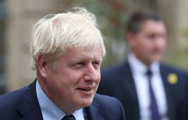 FILE PHOTO: British Prime Minister Boris Johnson leaves after a meeting with Luxembourg's Prime Minister Xavier Bettel in Luxembourg, September 16, 2019. REUTERS/Yves Herman
