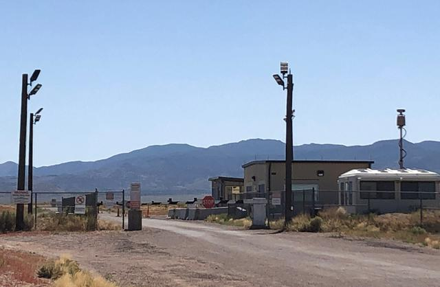 FILE PHOTO: The back entrance to Area 51 is shown in Rachel, Nevada, U.S., August 16,2019.    REUTERS/Rollo Ross