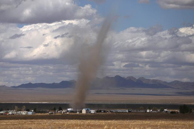 Dust blows through the desert as an influx of tourists responding to a call to 'storm' Area 51, a secretive U.S. military base believed by UFO enthusiasts to hold government secrets about extra-terrestrials, is expected in Rachel, Nevada, U.S. September 19, 2019. REUTERS/Jim Urquhart