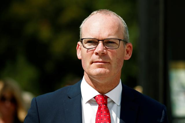 FILE PHOTO: Irish Foreign Minister Simon Coveney attends a conference in Paris, France, August 28, 2019. REUTERS/Benoit Tessier