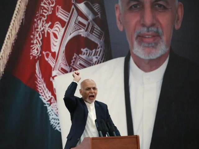Afghanistan's President Ashraf Ghani speaks during an event with Afghan security forces in Kabul, Afghanistan, September 9, 2019. Picture taken September 9, 2019. REUTERS/Omar Sobhani