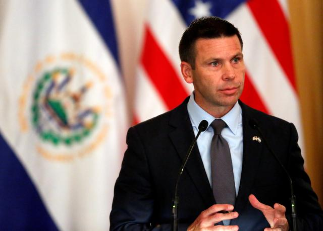 FILE PHOTO: Acting U.S. Homeland Security Secretary Kevin McAleenan attends a news conference in San Salvador, El Salvador August 28, 2019. REUTERS/Jose Cabezas/File Photo