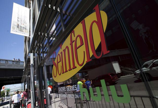 """FILE PHOTO: A view shows the exterior of Hulu's """"Seinfeld: The Apartment"""", a temporary exhibit on West 14th street in the Manhattan borough of New York City, June 24, 2015. REUTERS/Mike Segar/File Photo"""