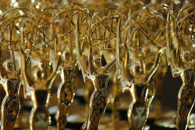 FILE PHOTO - 70th Primetime Emmy Awards - Photo Room - Los Angeles, California, U.S., 17/09/2018 - Emmy awards sit before being presented to recipients. REUTERS/Mike Blake