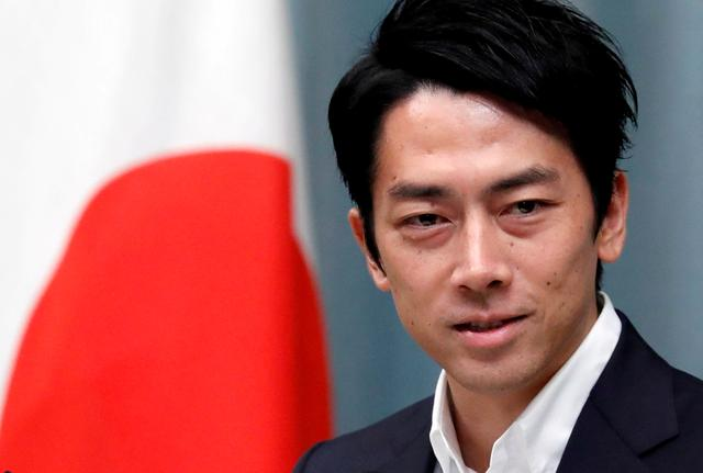 FILE PHOTO: Japan's Environment Minister Shinjiro Koizumi attends a news conference at Prime Minister Shinzo Abe's official residence in Tokyo, Japan September 11, 2019. REUTERS/Issei Kato/File Photo