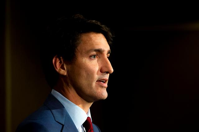 FILE PHOTO: Canada's Prime Minister Justin Trudeau speaks during an election campaign stop in Toronto, Ontario, Canada September 20, 2019. REUTERS/Carlos Osorio