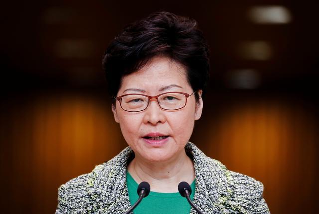 Hong Kong's Chief Executive Carrie Lam attends a news conference in Hong Kong, China September 24, 2019. REUTERS/Jorge Silva