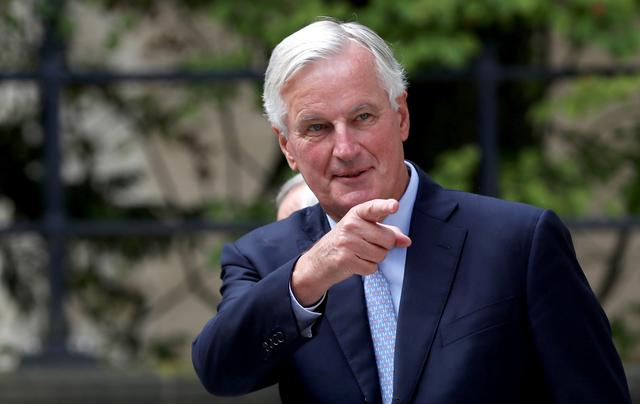 FILE PHOTO: European Union's chief Brexit negotiator Michel Barnier arrives to meet with British Prime Minister Boris Johnsonr in Luxembourg, September 16, 2019. REUTERS/Yves Herman