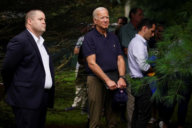 FILE PHOTO: Former U.S. Vice President and Democratic presidential hopeful Joe Biden waits to speak at the Polk County Democrats' Steak Fry in Des Moines, Iowa, U.S. September 21, 2019.   REUTERS/Elijah Nouvelage/File Photo