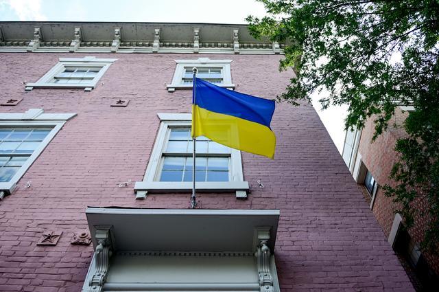 The Embassy of Ukraine is seen in Washington, U.S., September 23, 2019. REUTERS/Erin Scott