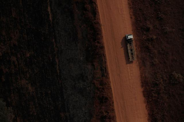 FILE PHOTO: An aerial view of the road BR-319 highway near city of Humaita, Amazonas state, Brazil, August 22, 2019. REUTERS/Ueslei Marcelino