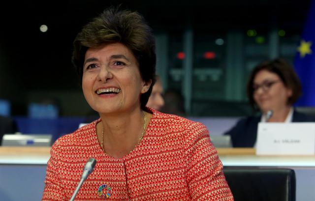 European Internal Market Commissioner-designate Sylvie Goulard of France attends her hearing before the European Parliament in Brussels, Belgium October 2, 2019. REUTERS/Francois Walschaerts