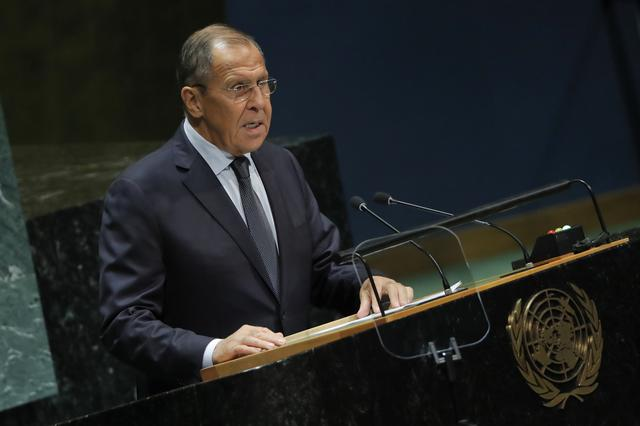 FILE PHOTO: Russian Foreign Minister Sergey Lavrov addresses the 74th session of the United Nations General Assembly at U.N. headquarters in New York, U.S., September 27, 2019. REUTERS/Brendan Mcdermid