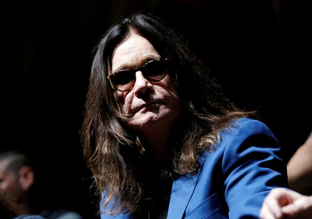 "FILE PHOTO: Ozzy Osbourne attends a news conference to announce the ""Ozzfest Meets Knotfest"" music festival at the Hollywood Palladium in Los Angeles, U.S., May 12, 2016.   REUTERS/Mario Anzuoni -/File Photo"