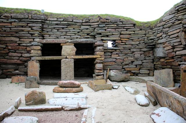 FILE PHOTO: Neolithic Buildings are seen at Skara Brae in the Orkney Islands, Scotland Britain September 25, 2019.  REUTERS/George Sargent