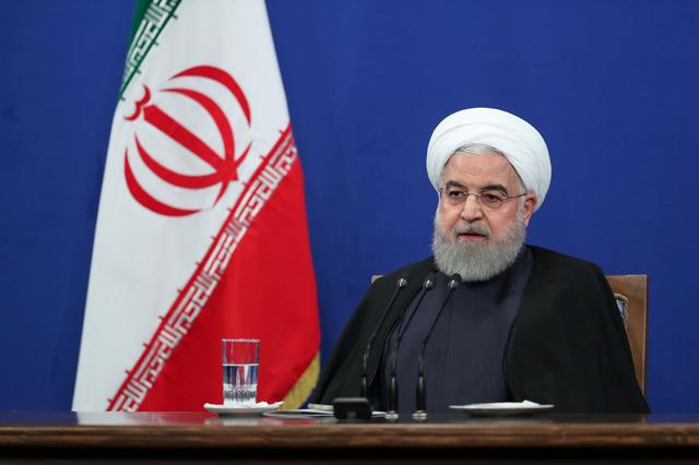 Iranian President Hassan Rouhani speaks during press conference in Tehran, Iran, October 14, 2019. Official Presidential website/Handout via REUTERS
