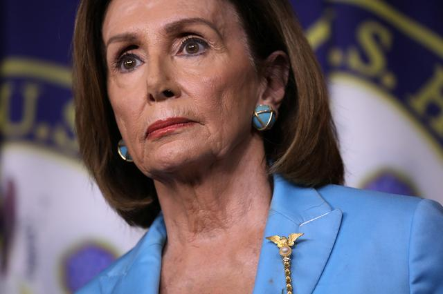 FILE PHOTO: Speaker of the House Nancy Pelosi holds a news conference about Democratic legislative priorities and impeachment inquiry plans at the U.S. Capitol in Washington, U.S., October 2, 2019. REUTERS/Jonathan Ernst