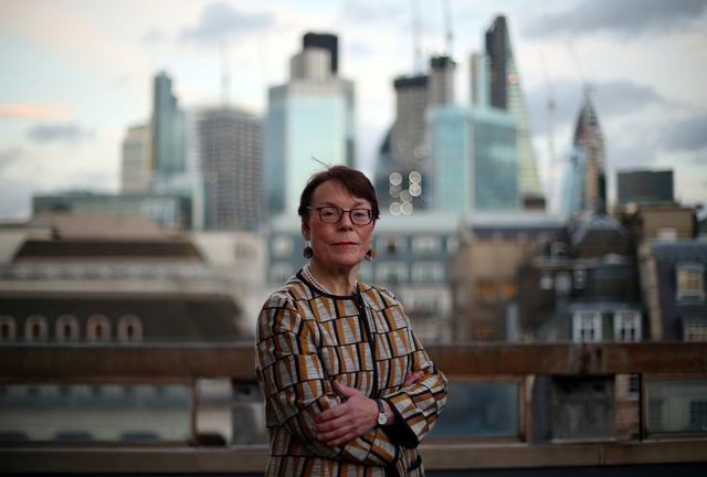 FILE PHOTO: Catherine McGuinness, Chairman of the Policy and Resources Committee of the City of London Corporation, poses for a photograph in London, Britain, January 17, 2018. REUTERS/Hannah McKay/File Photo