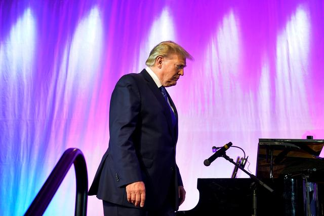 U.S. President Donald Trump arrives to address conservative activists at the Family Research Council's annual gala in Washington, U.S., October 12, 2019. REUTERS/Yuri Gripas