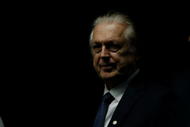 FILE PHOTO: Luciano Bivar President of the Social Liberal Party (PSL) is seen at the National Congress, in Brasilia, Brazil February 20, 2019. REUTERS/Adriano Machado