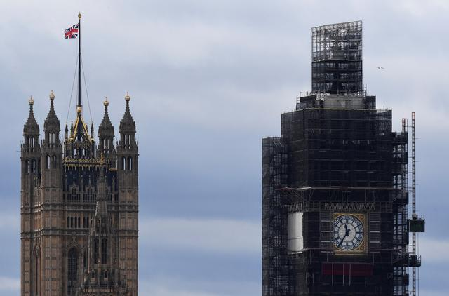 FILE PHOTO: A partial view shows the Houses of Parliament and the Big Ben clock tower in London, Britain September 11, 2019. REUTERS/Toby Melville/File Photo