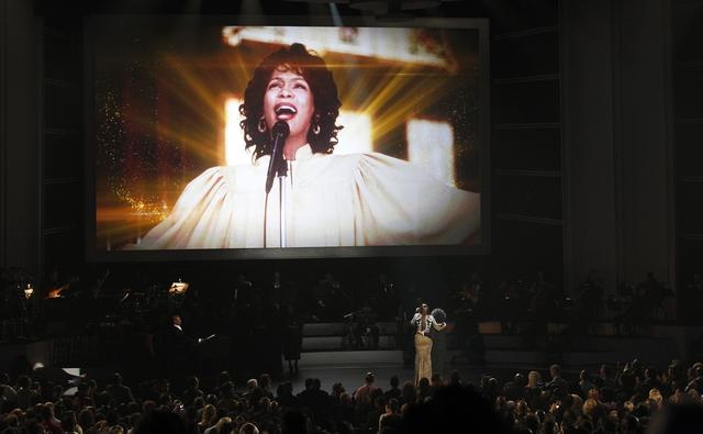 "FILE PHOTO: Singers Yolanda Adams (L) and CeCe Winans perform during the taping of ""We Will Always Love You: A Grammy Salute To Whitney Houston"" at the Nokia theatre in Los Angeles, California October 11, 2012.  REUTERS/Mario Anzuoni"
