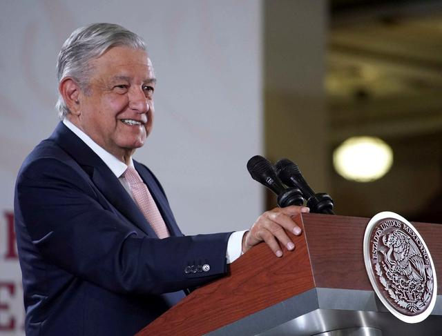 Mexico's President Andres Manuel Lopez Obrador speaks during his daily news conference at National Palace in Mexico City, Mexico October 15, 2019. Press Office Andres Manuel Lopez Obrador/Handout via REUTERS