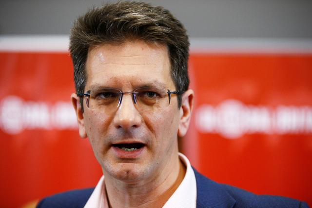 FILE PHOTO: Conservative MP Steve Baker attends a meeting of the pro-Brexit European Research Group in London, Britain, November 20, 2018. REUTERS/Henry Nicholls