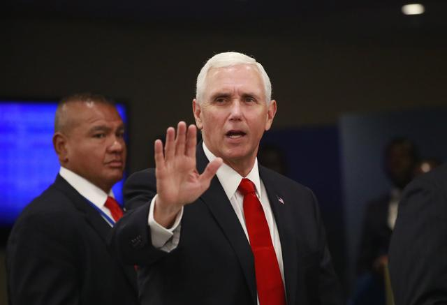 FILE PHOTO: U.S. Vice President Mike Pence arrives ahead of the start of the 74th session of the United Nations General Assembly at U.N. headquarters in New York City, New York, U.S., September 24, 2019. REUTERS/Yana Paskova