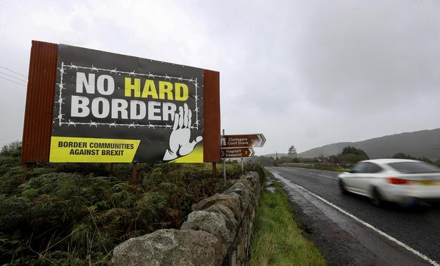 FILE PHOTO: View of the border crossing between the Republic of Ireland and Northern Ireland outside Newry, Northern Ireland, Britain, October 1, 2019. REUTERS/Lorraine O'Sullivan