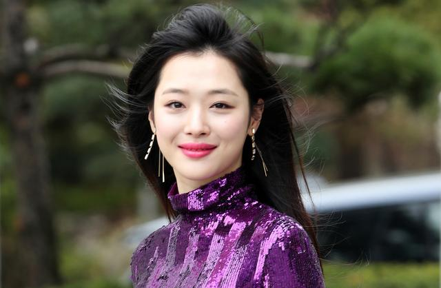 FILE PHOTO: A member of the South Korean girl group f(x) Choi Jin-ri, also known by her stage name Sulli, is seen in this photo obtained October 16, 2019. Yonhap via REUTERS