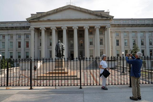 Foto de archivo. La sede del Departamento del Tesoro de Estados Unidos en Washington. 6 de agsoto de 2018. REUTERS/Brian Snyder.