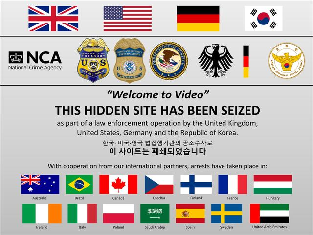 The seized Welcome to Video website in an image courtesy of the U.S. Department of Justice.   REUTERS/via DOJ