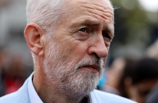 FILE PHOTO: Leader of Britain's opposition Labour party, Jeremy Corbyn, is seen during a visit to Chingford, London, Britain September 28, 2019.  REUTERS/Simon Dawson