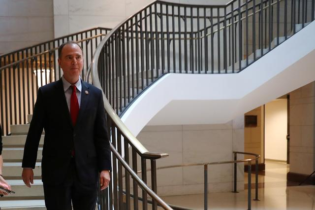 House Intelligence Committee Chairman Rep. Adam Schiff (D-CA) arrives prior to participating in the closed deposition of George Kent, deputy assistant secretary of state for Europe and Eurasian Affairs, as part of the Democratic-led U.S. House of Representatives impeachment inquiry into U.S. President Donald Trump on Capitol Hill in Washington, U.S., October 15, 2019. REUTERS/Leah Millis