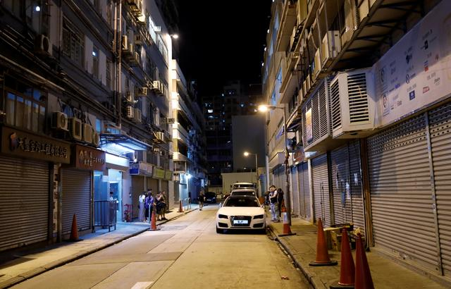 General view of the site where the leader of Hong Kong's Civil Human Rights Front Jimmy Sham was attacked in Mong Kok district in Hong Kong, China, October 16, 2019. REUTERS/Kim Kyung-Hoon