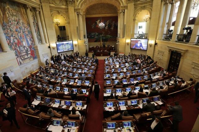 Foto de archivo. Panorámica del Congreso de Colombia en una sesión de los legisladores en Bogotá, 18 de diciembre, 2018. REUTERS/Luisa González