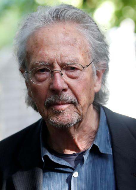 FILE PHOTO: Austrian author Peter Handke is pictured at his house, following the announcement he won the 2019 Nobel Prize for Literature, in Chaville, near Paris, France October 10, 2019. REUTERS/Christian Hartmann