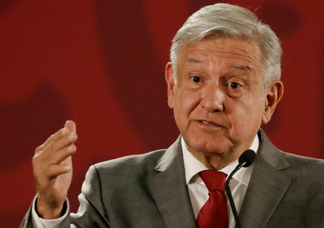 FILE PHOTO: Mexico's President Andres Manuel Lopez Obrador attends a news conference at the National Palace in Mexico City, Mexico, May 31, 2019. Picture taken May 31, 2019. REUTERS/Henry Romero/File Photo
