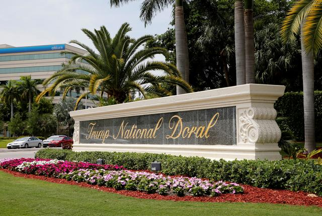The Trump National Doral golf resort is shown in Doral, Florida, U.S., March 18, 2019. Picture taken March 18, 2019.  REUTERS/Joe Skipper