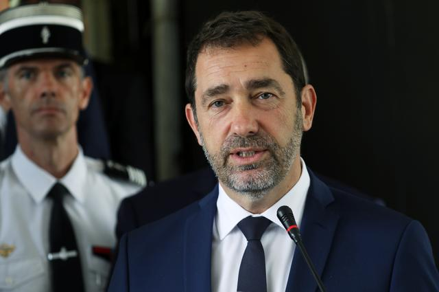 FILE PHOTO: French Interior Minister Christophe Castaner speaks during a joint news conference with Ivory Coast Security Minister Sidiki Diakite in Abidjan, Ivory Coast May 20, 2019. REUTERS/Luc Gnago