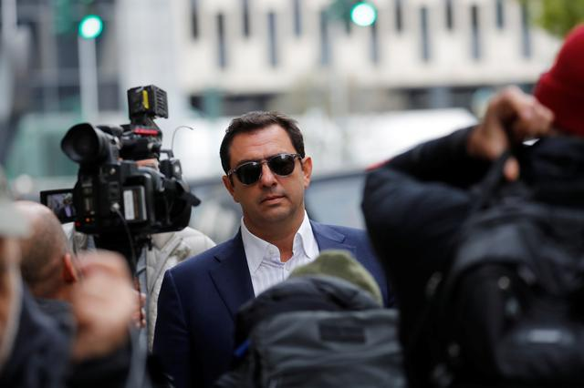 Ukrainian-born businessman Andrey Kukushkin departs after his arraignment at the United States Courthouse in the Manhattan borough of New York City, U.S., October 17, 2019. REUTERS/Mike Segar